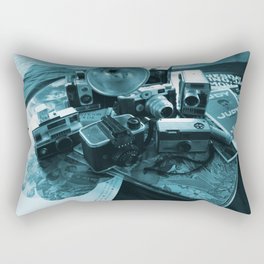 DAYS GONE BY BLACK AND BLUE Rectangular Pillow