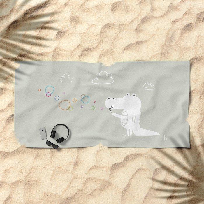 The Happy Bubbles Beach Towel