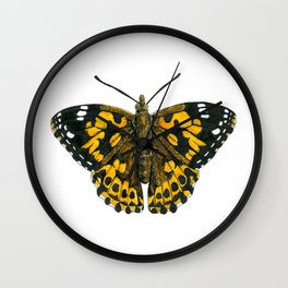 Painted lady butterfly Wall Clock