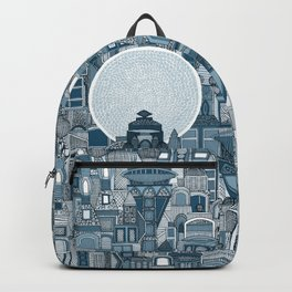 space city mono blue Backpack