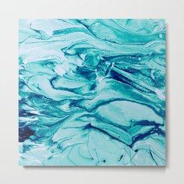 Blue acryllic painting Metal Print