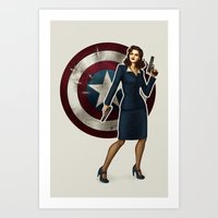 agent carter Art Prints featuring Agent Carter by Tera Sidebottom