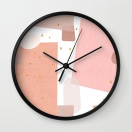 Confetti in Pink Wall Clock