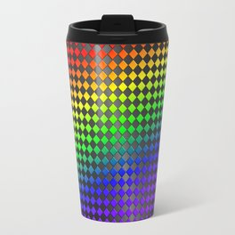Rainbow tile mosaic Travel Mug