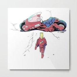 Red Motorcylce Poster Metal Print