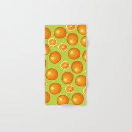 Orange Pattern Interior design Wall and Home Decor Hand & Bath Towel