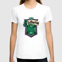 slytherin T-shirts featuring Slytherin by Zeynep Aktaş