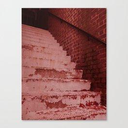 vieux escaliers Canvas Print