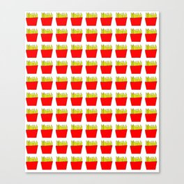 French fries -fries,patatoes,fast food,patato,frites,wedges,patata Canvas Print
