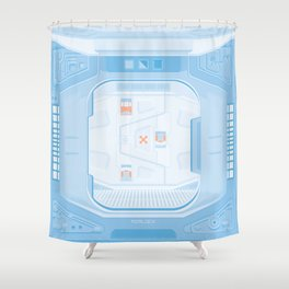Airlock - Alien (1979) Shower Curtain