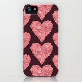 Pink Succulent Heart iPhone Case