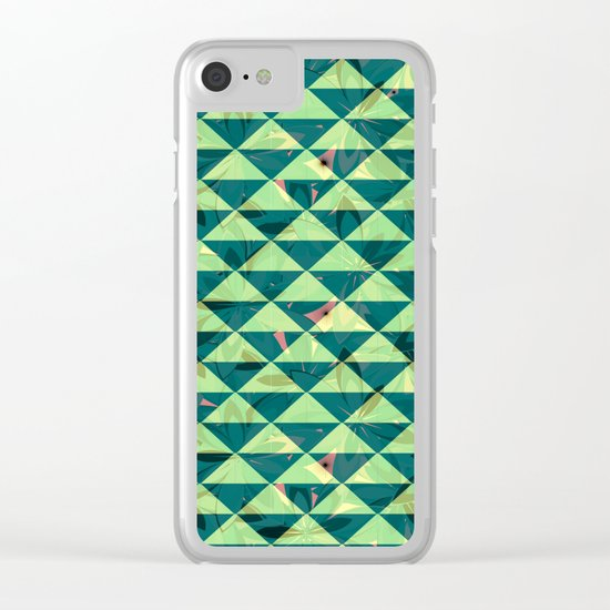 Vegetation-triangles Clear iPhone Case