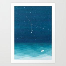 Cancer zodiac constellation Art Print