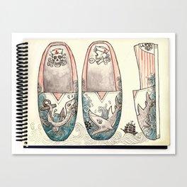 Sailor's Shoes Canvas Print