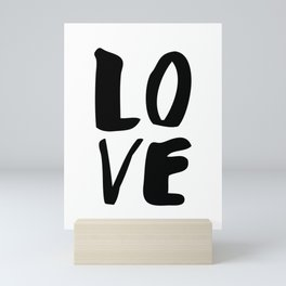 LOVE black and white monochrome typography poster design home wall bedroom decor Mini Art Print
