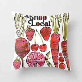 Shop Local Throw Pillow