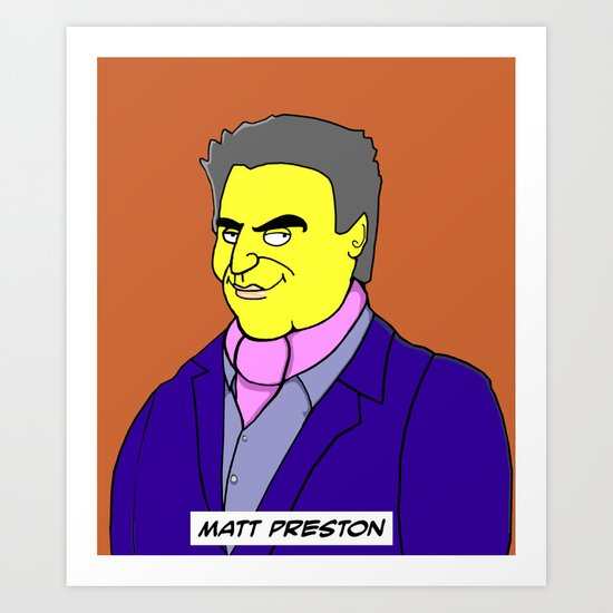Matt Preston MasterChef Australia  Art Print