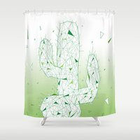 cactus Shower Curtains featuring Cactus by ARCHIGRAF