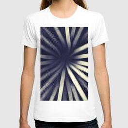 Intersecting-Retro Blue T-shirt