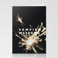 vampire weekend Stationery Cards featuring Vampire Weekend by alboradas
