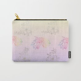 Gentle ombre metallic flowers Carry-All Pouch