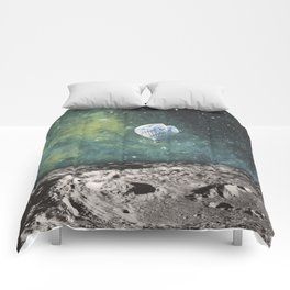 FLOATING THROUGH SPACE Comforters