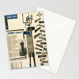 Werbeplakat occhio critico il verbo ordet Stationery Cards