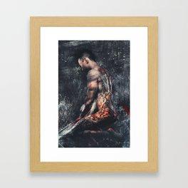Simply Kneeling Framed Art Print