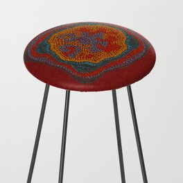 Growing - Lamium - plant cell embroidery Counter Stool