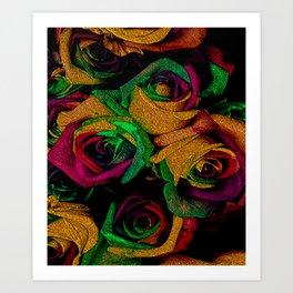 Funky Roses IV Art Print