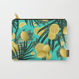 Summer Lemon Twist Jungle #1 #tropical #decor #art #society6 Carry-All Pouch