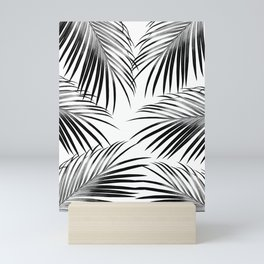 Black Palm Leaves Dream #2 #tropical #decor #art #society6 Mini Art Print
