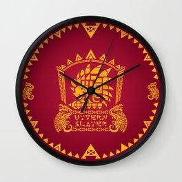 Wyvern Slayer Wall Clock
