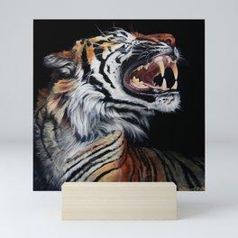 Roar, Tiger in Profile Mini Art Print