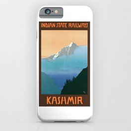 1930 Kashmir Indian State Railways Travel Poster iPhone Case