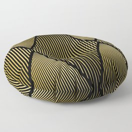 Folded Black & Gold Floor Pillow