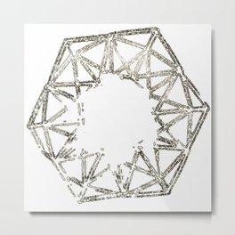 Melted geometry Metal Print