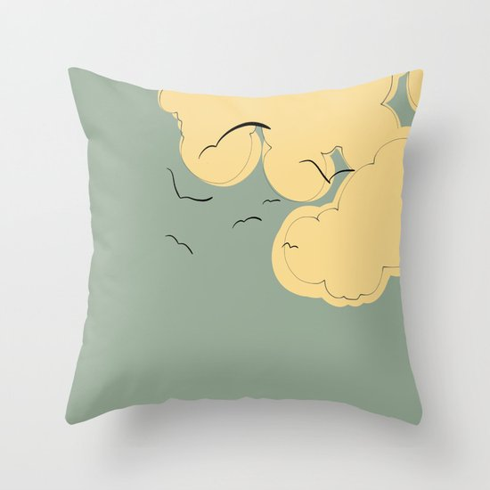 The Yellow Clouds Throw Pillow