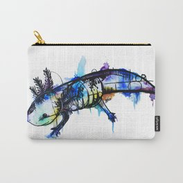Rainbow Splash Axolotl Watercolour Carry-All Pouch
