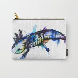 Rainbow Splash Axolotl Watercolour Carry-All Pouch