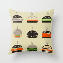 Hamburger2 Throw Pillow