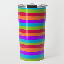 lumpy or bumpy lines abstract and summer colorful - QAB273 Travel Mug