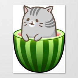 Melon Cat Canvas Print