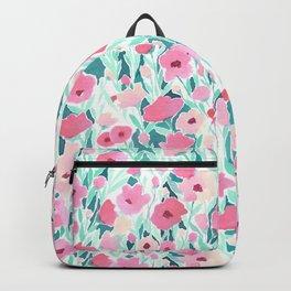 Flower Field Pink Mint Backpack