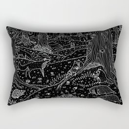 Nocturnal Animals of the Forest Rectangular Pillow