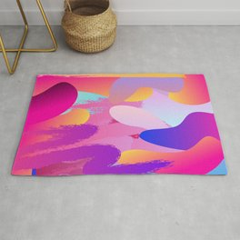 Abstract Pink Pattern Rug
