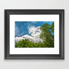 Rider in the sky Framed Art Print