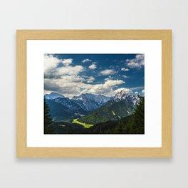 Stunning Julian alps Framed Art Print