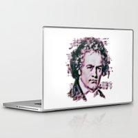 beethoven Laptop & iPad Skins featuring Beethoven by Zandonai
