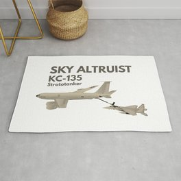 KC-135 Airplane Refueling F-15 Rug